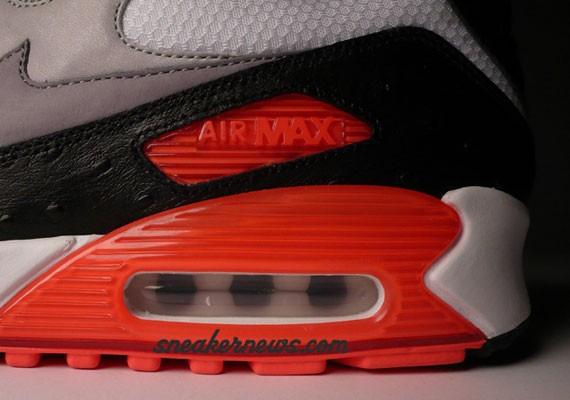 Nike Air Max 90 Infrared Premium Ostrich and Premium