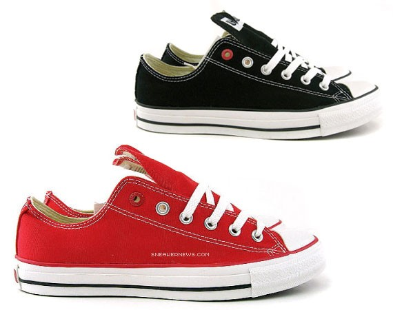 Converse Product (RED) Chuck Taylor Low OX - Black + Red ... d6fc15939