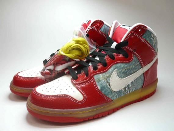 81b0ef49eef7 Nike Dunk High Premium SB - Shoe Goo - Silver - White - SneakerNews.com