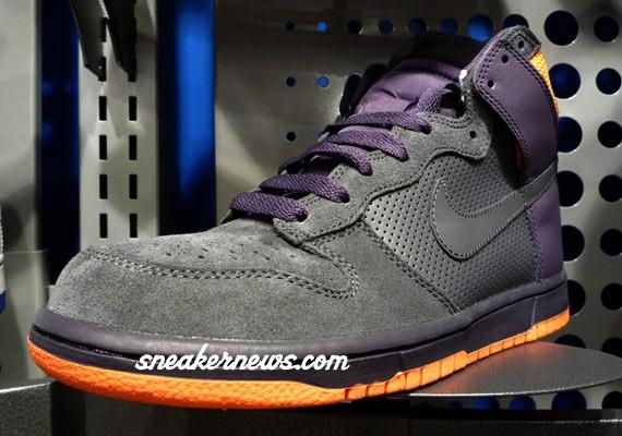 purple and orange nike dunks