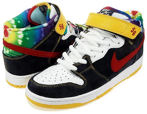 separation shoes d633a 06daf Nike Dunk Mid Pro SB - Tie Dye - Obsidian - Varsity Red ...