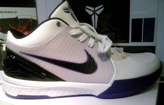 Nike Zoom Kobe Iv 4 White Black Purple Black White