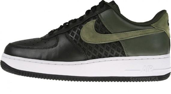 best loved 1178e 19f4a Nike Air Force 1 Premium - Birdsnest - Black-Dark Army - SneakerNews.com