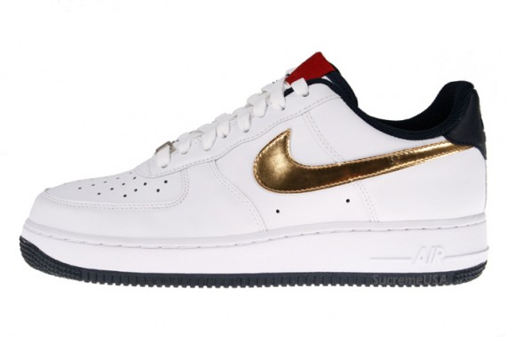 Nike Air Force 1 Gold Swoosh