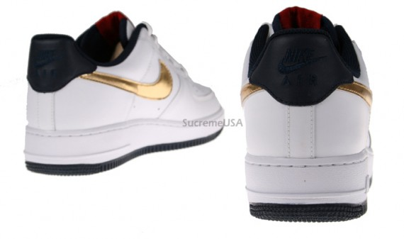 Air Gold Core Blue Olympic Nike White Force 1 l3TJFcK1