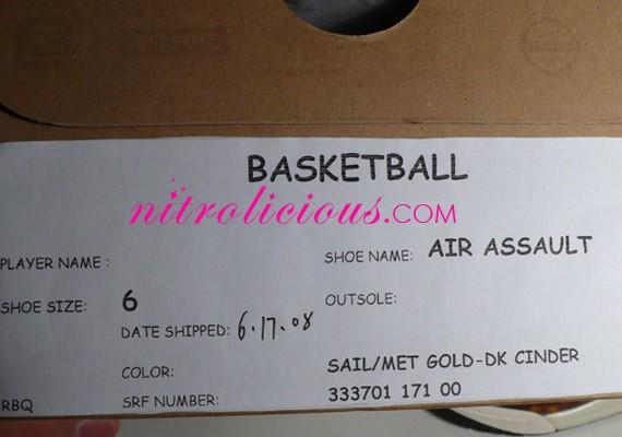 "Nike WMNS Air Assault High - ""Tortoise"" - Sail - Metallic Gold - Dark Cinder"