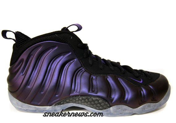 Purple Black Air Foamposite One Varsity