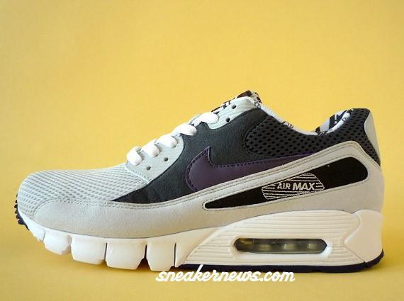 Nike Air Max 90 Hitomi Yokoyama Sneakers (Neutral Grey/White-Abyss)