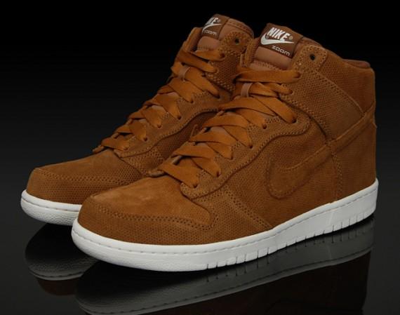 Nike Dunk Hi Premium - Brown Perforated Suede - Un-DQM - SneakerNews.com 463efef9e3cd