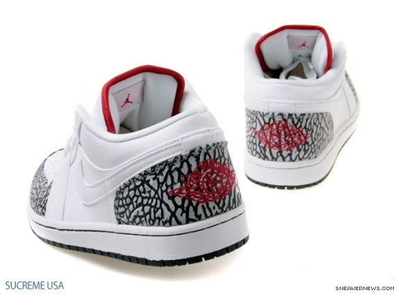 Air Jordan 1 Low Phat - White - Varsity Red - Cement Grey ... 545f001395