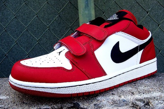 a1f77de84cf8 Air Jordan 1 Low Velcro - White - Black - Varsity Red - SneakerNews.com