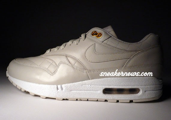 best cheap a30ce b83a2 Nike Air Max 1 Premium - Quilted Leather - Light Bone