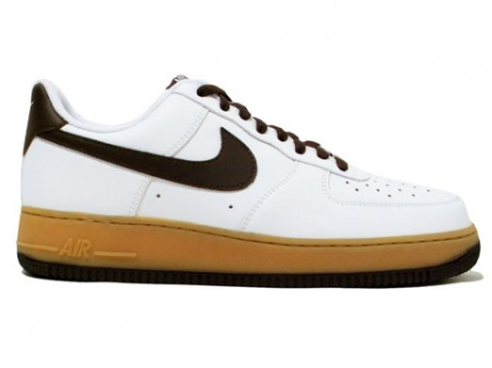 Nike Air Force 1 Low – White – Light Brown – Boulder Gum