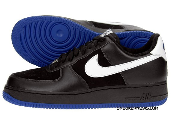 Nike Air Force 1 - Black - Old Royal