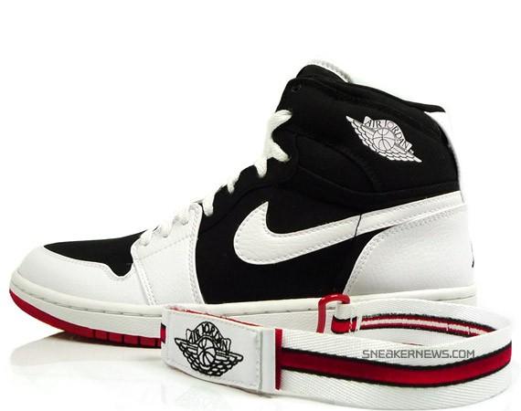 Air Jordan 1 High Strap - White - Black