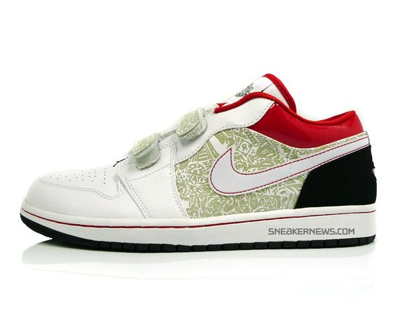 f1f6a57ef092 Air Jordan 1 Low Velcro - White - Red - Black - AJXX Inspired ...