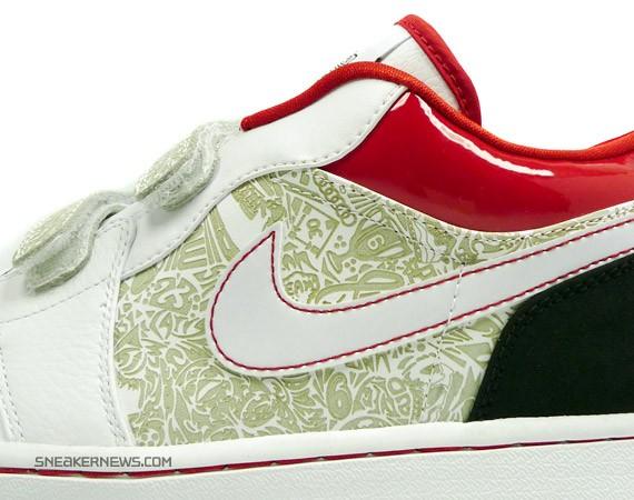 Air Jordan 1 Low Velcro - White - Red - Black - AJXX Inspired ... ca9c7b00d