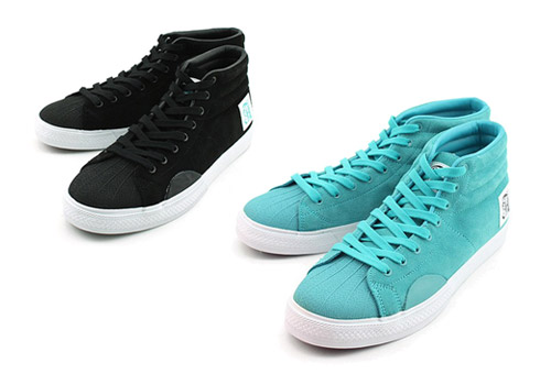 Alife Shell Toe - Black + Aqua Blue + Grey