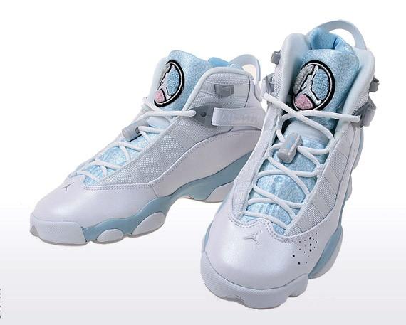 Air Jordan Six (6) Rings - White - Pale Blue - GS ...