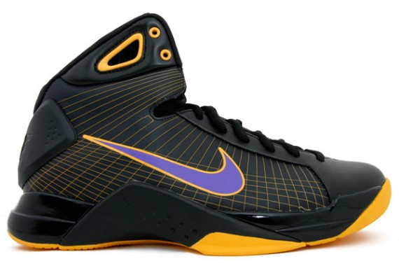Purple Gold Basketball Shoes