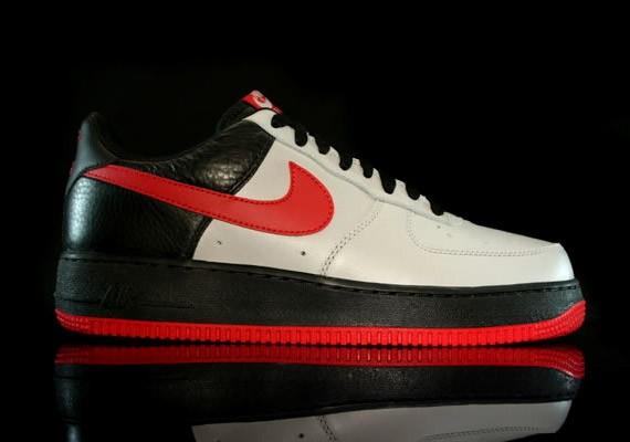 Nike Air Force 1 Low Medium Grey Varsity Red Black
