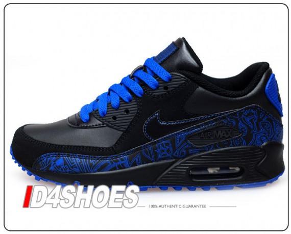 Nike Air Max 90 Gs Black Black Varsity Royal Sneakernews Com