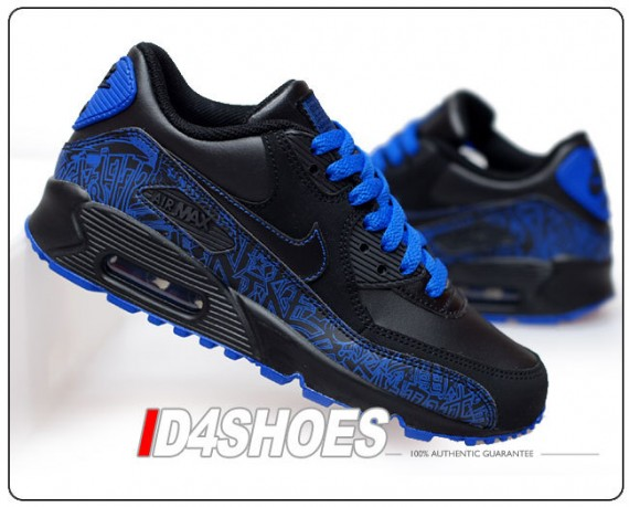 Womens Nike Air Max 1 Hyperfuse Black Varsity Royal Pink Shoes