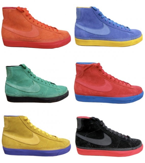reputable site 67025 e4024 Nike Blazer High Premium - NBA Pack - SneakerNews.com
