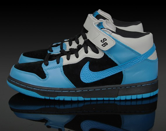 newest 9a272 3a2db Nike Dunk Mid Pro SB - Aqua Fuel - Black - Aqua Blue - SneakerNews.com