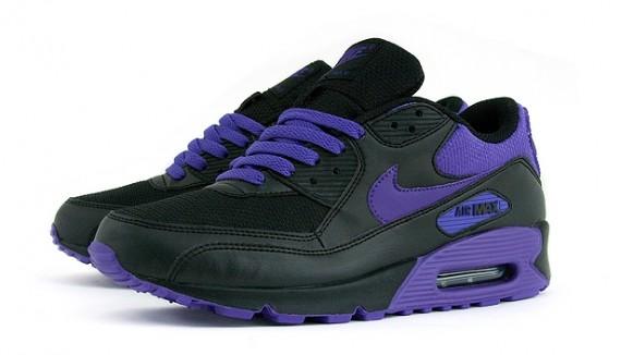 Nike Wmns Air Max 90 Noir / Violet