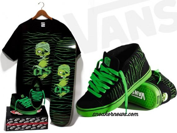Vans No Skool 2 Mid Black Green CCS Exclusive