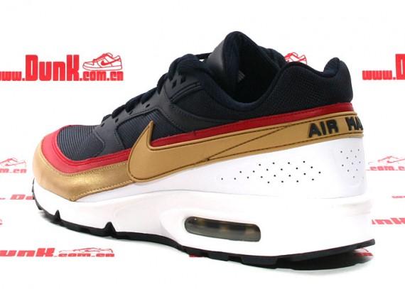 Nike Air Classic BW - Dark Obsidian/Metallic Gold - White