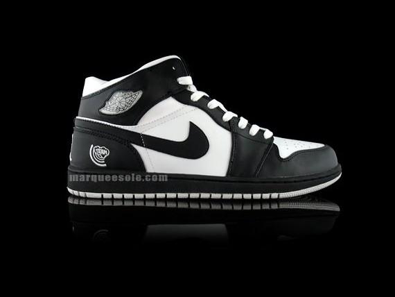 Air Jordan I Black White Quai 54