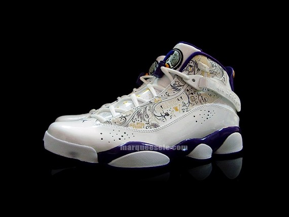 Air Jordan Six Rings White Varsity Purple LA Lakers - Click Image to Close