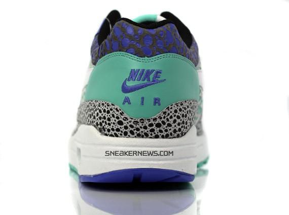 Nike Air Max 1 Premium - White - Mint - Safari Print