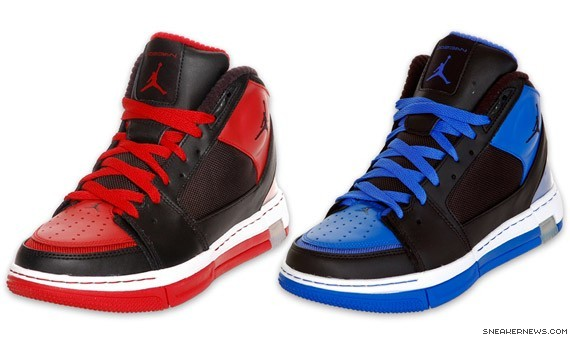 8514729df8f9a9 Jordan Ol  Skool II - Red-Black   Royal-Black - Finishline Exclusive ...