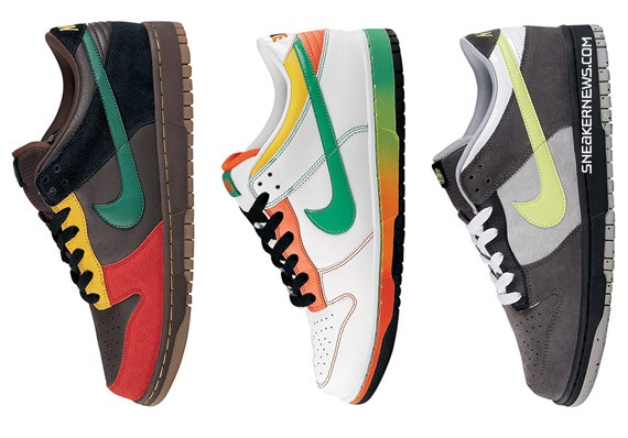 online store d56cc c6578 Nike Dunk Low 6.0 - Grey Neon - Brown Reggae - White Green Orange