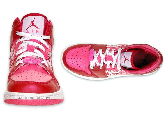 Air Jordan Retro I (1) - Kids' - Pink - Red