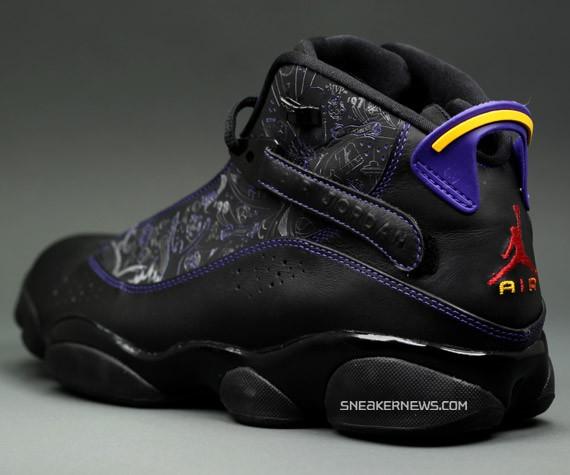 air jordan 6 rings black purple