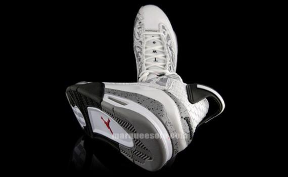 Air Jordan Dub Zero - White - Cement Grey