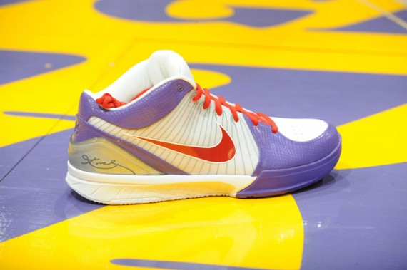 free shipping f314c 94463 Nike iD Zoom Kobe IV – Given to 100 fans who attended the Lakers vs.  Celtics game