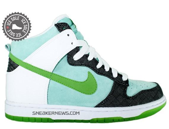 Nike 6.0 Womens Dunk High - Mint