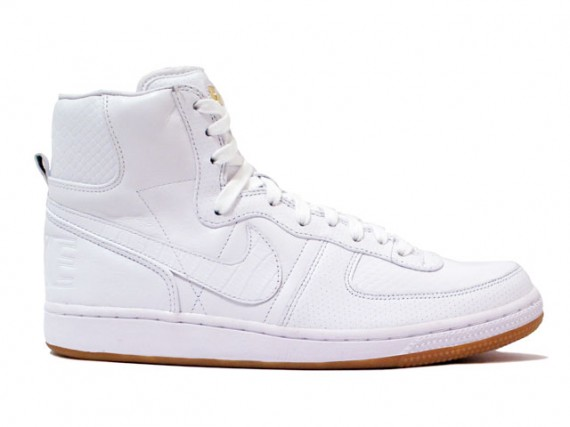 check-out b48e6 a2a55 Nike Terminator High Lux- White - Gold - SneakerNews.com