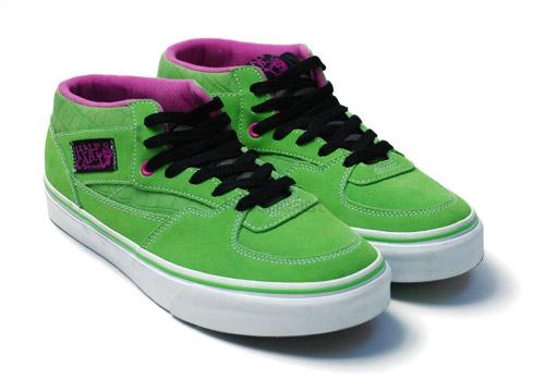 vans green half cab