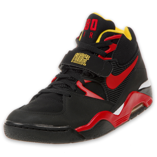 new style c317a 0ec7f Nike Air Force 180 - Black - Red
