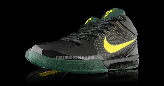 outlet Nike Zoom Kobe IV Rice High School NYC PE Black Green amp Yellow 4915e20f1445