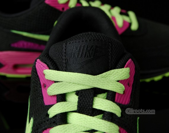 Nike Air Max 90 Rosa Fluorescente Y Negro 9OraP3J