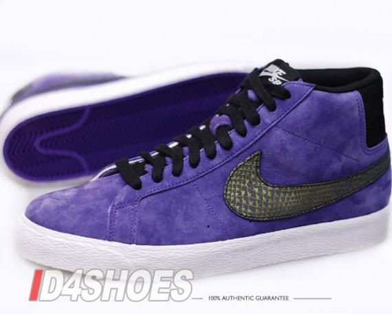 venta elección Nike Sb Blazer Prima Alta Zapatos De Ante Morado Mejores tratos comercializable barato Dónde puedes encontrar xrreNo13x