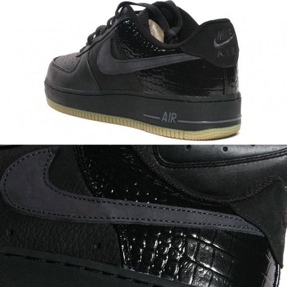 Nike Air Force 1 Low Premium LE - Black - Gum