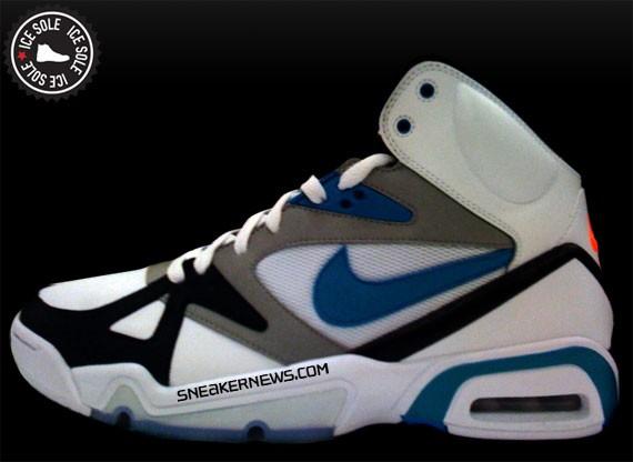 Nike Air Hoop Structure - White - Teal - Black Toe